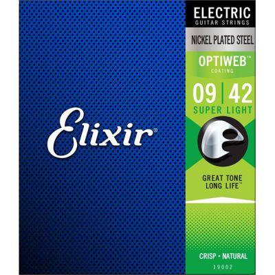 STRINGS ELIXIR 009/42 OPTIWEB FOR ELECTRIC GUITAR