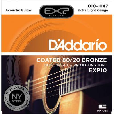 STRINGS D'ADDARIO EXP10 ACOUSTIC GUITAR