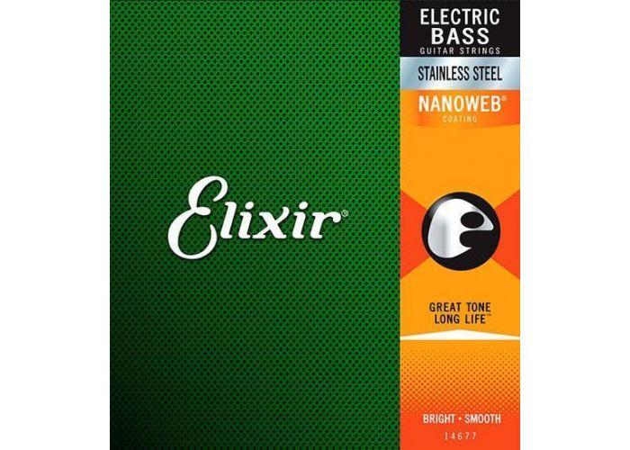 ELIXIR 045/105 SS BASS NANOWEB STAINLESS STRINGS