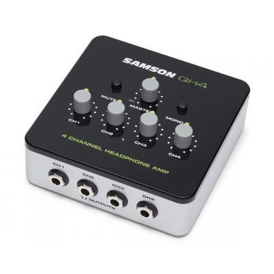 HEADPHONE AMP SAMSON QH4 4CHNL MINI