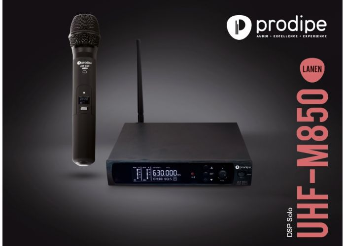 MICROPHONE PRODIPE M850 DSP SOLO UHF DYNAMIC VOCAL