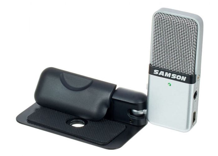 MICROPHONE SAMSON GO MIC USB CLIP-ON REC MIC POUCH/USB CBL