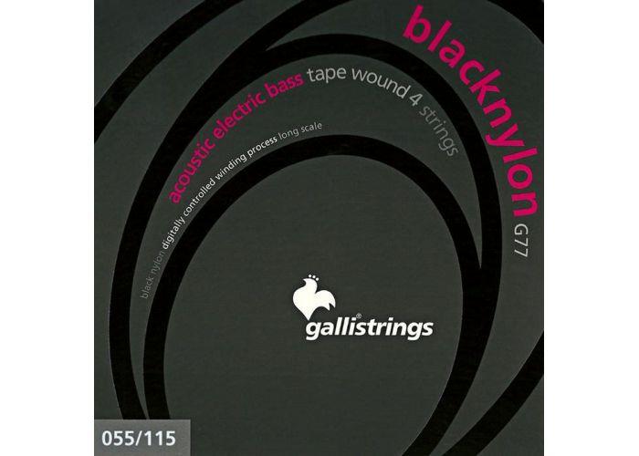 GALLI 55-115 BLACK NYLON BASS GUITAR...
