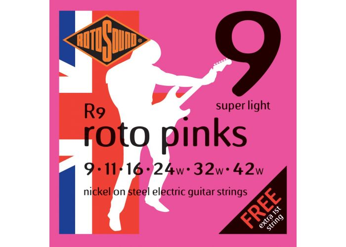 ROTOSOUND PINKS ELECTRIC GUITAR STRINGS