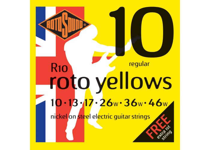 ROTOSOUND R10 YELLOWS ELECTRIC GUITAR...